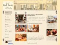 Internetseite Hotel Stadt Barth und Eshramo